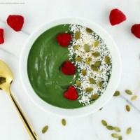 Avocado Spirulina Protein Smoothie Bowl (vegan, gluten free)