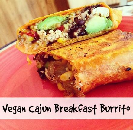 Vegan Cajun Breakfast Burrito Recipe