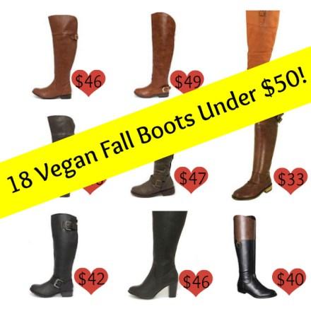 Vegan Fall Boots Under $50