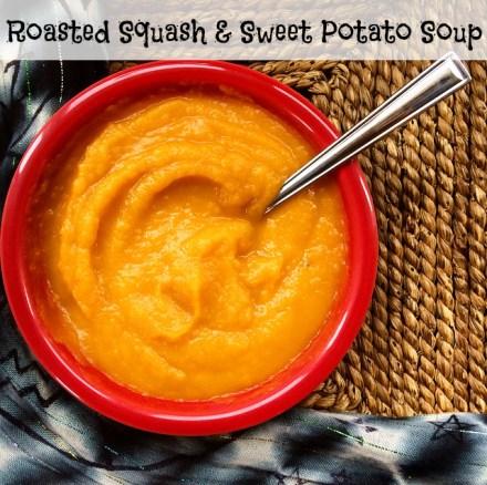 Squash Sweet Potato Soup vegan recipe