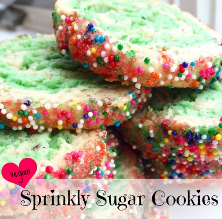 Sprinkle Sugar Cookies Vegan Recipe