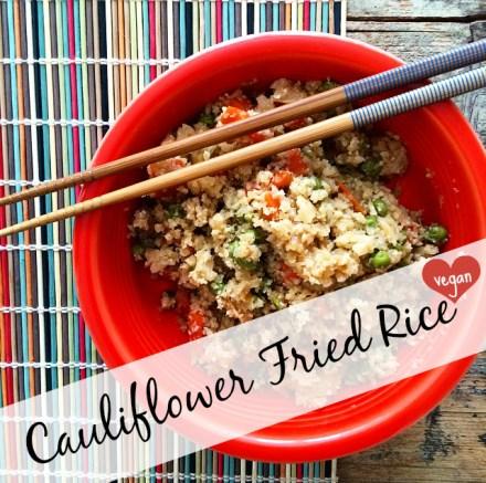 Cauliflower Fried Rice Vegan