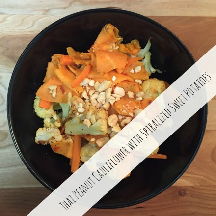 Thai Peanut Cauliflower Recipe