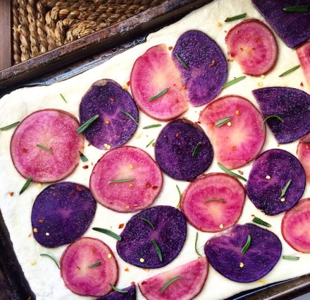 Vegan Potato Rosemary Pizza Recipe