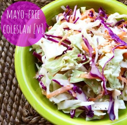 Mayo-Free Coleslaw Vegan Recipe
