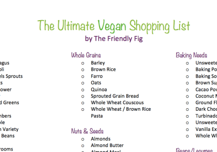 Ultimate Vegan Shopping List