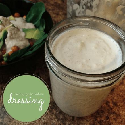 Vegan Garlic Cashew Dressing
