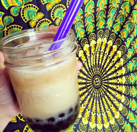 Vegan Milk Honey Bubble Tea
