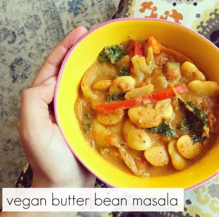 Vegan Butter Bean Masala Recipe