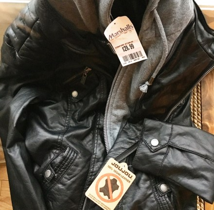 Vegan Style Leather Jacket