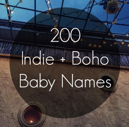 Indie Bohemian Baby Names