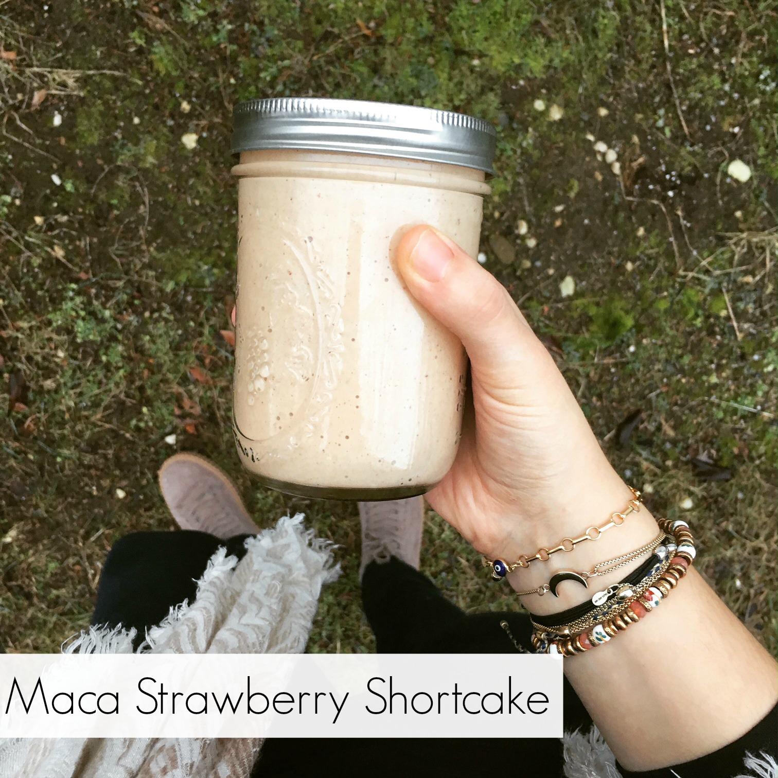 Maca Strawberry Shortcake Smoothie