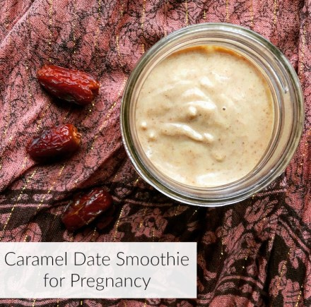 Caramel Date Smoothie for Pregnancy