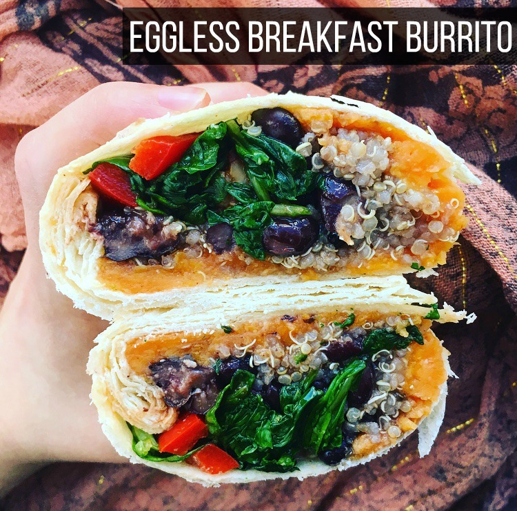 Eggless Breakfast Burrito