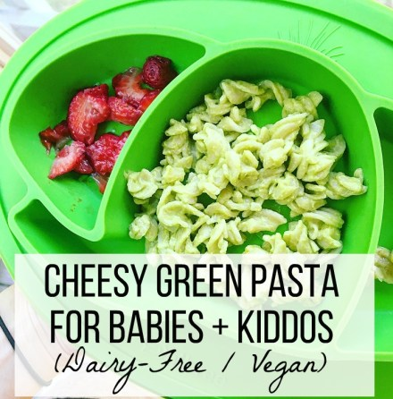 Vegan Green Pasta For Babies And Kids Recipe
