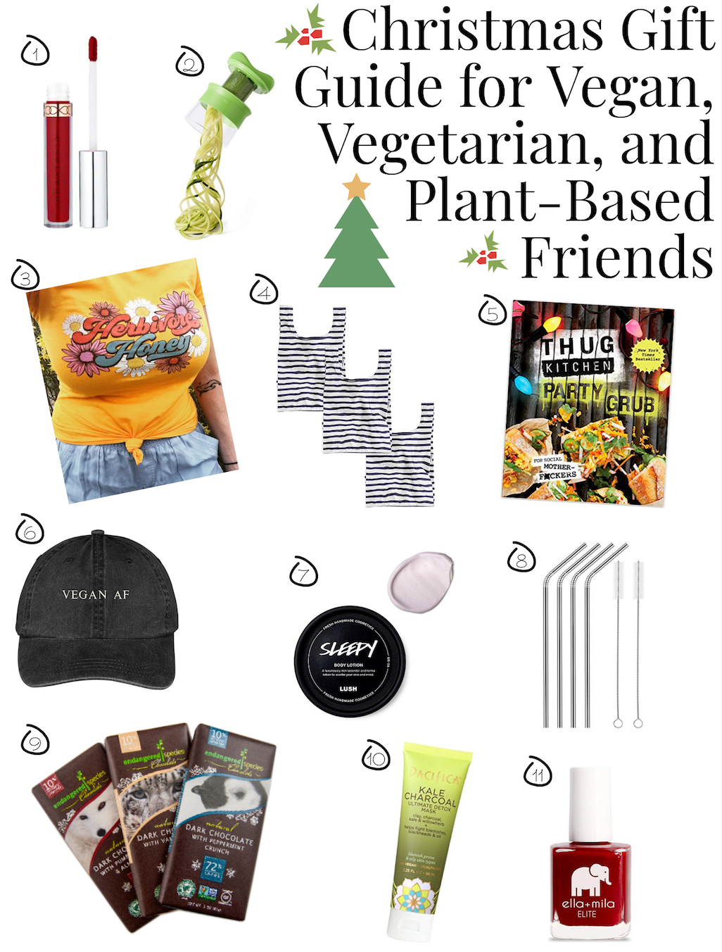 Christmas Gift Guide for Vegan, Vegetarian, and Plant-Based Friends