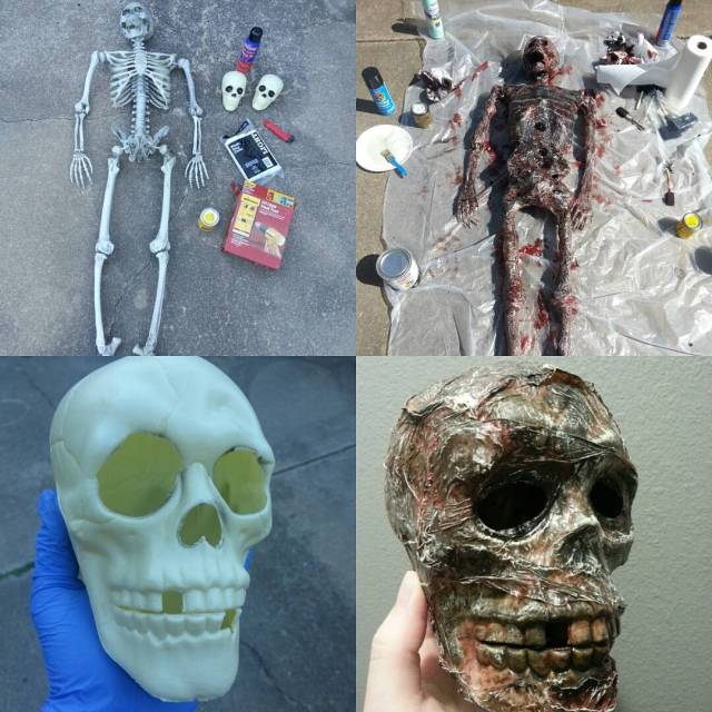 DIY Corpsing Before and After Halloween halloweendecorations corpsingparty followme