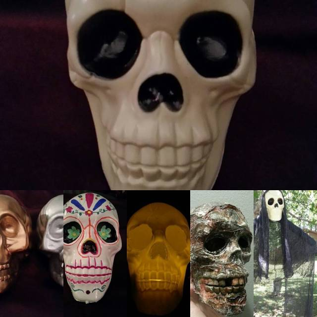 Dollar Tree skulls  5 ways Halloween halloweendecorations followme