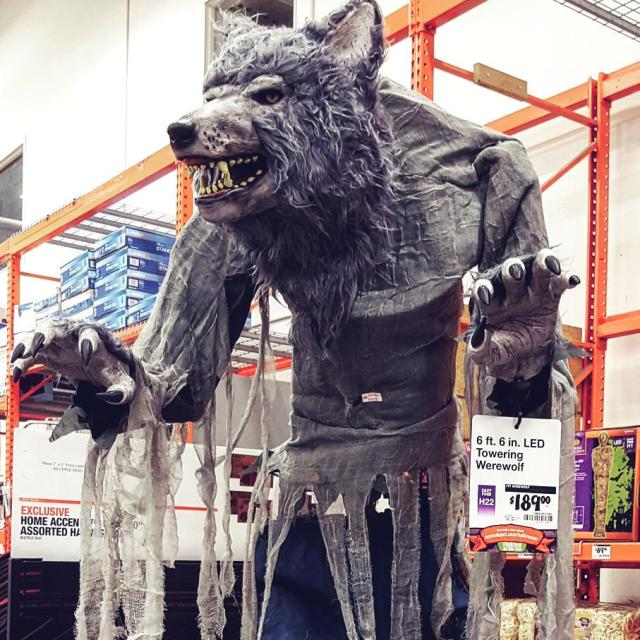Werewolf Sighting homedepot halloween merchandise werewolf