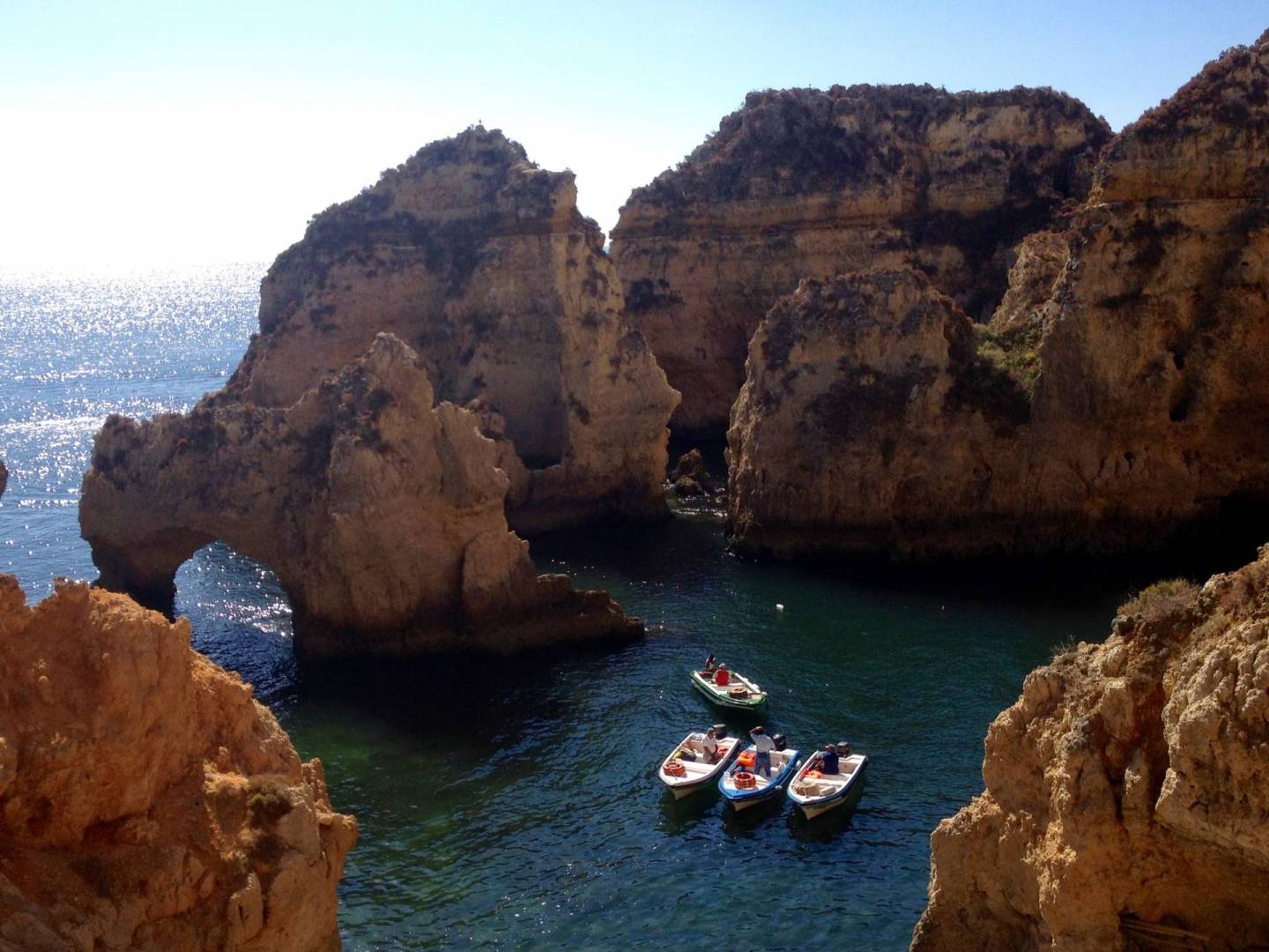 grotto boat tour ten days in Portugal
