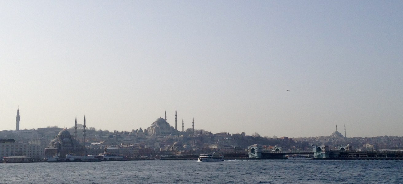 Istanbul view from a ferry