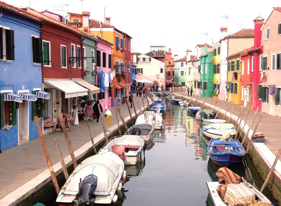 colourful houses of Burano island