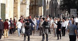 Dozens of Jewish settlers storm Al-Aqsa compound