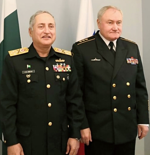 Naval Chief calls on Commander-in-Chief of Russian Navy