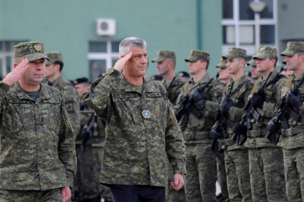 Kosovo's President Hashim Thaci attends a ceremony of security forces a day before parliament's vote on whether to form a national army, in Pristina, Kosovo, December 13, 2018. REUTERS/Laura Hasani
