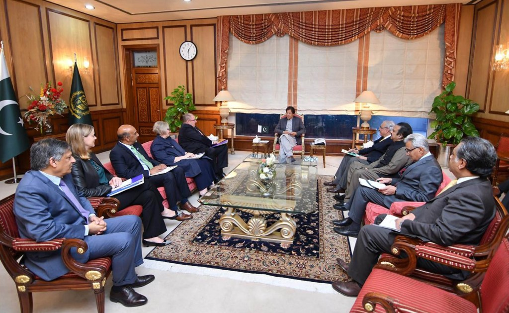 A delegation of World Bank headed by Mr. Hartwig Schafer, Vice President South Asia called on Prime Minister Imran Khan at PM Office Islamabad on March 18, 2019