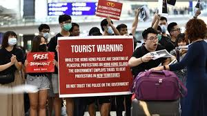 Hong Kong's tourism plunges 40 percent as protests deter visitors