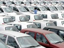 Car sale, production fall