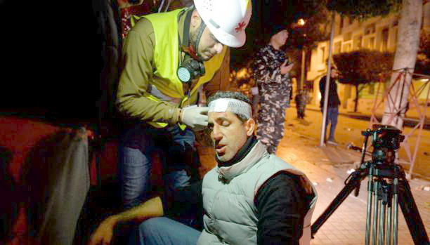 Lebanese protesters story picture