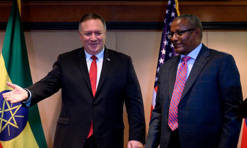 Secretary Michael R Pompeo With Lea Salame Of France Inter The Frontier Post