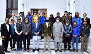 Nepalese K-2 expedition meets President