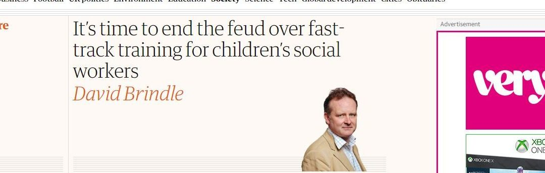 The Guardian – It's time to end the feud over fast-track training for children's social workers