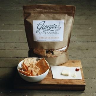 Georgia Sourdough Cheese Crackers