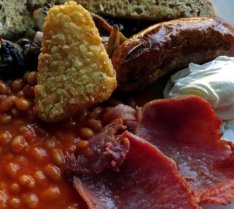 the front room cafe, cooked breakfast