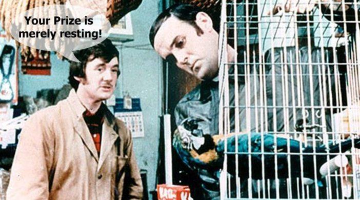 With apologies to Monty Python!