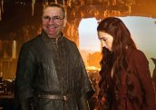 Shane Baratheon of the House of Bangor, Dominator of Worlds, First Lord of Ulsteros, Keeper of the Faith, Defender of the Realm and Follower of the Lord of Light. Pictured with the High Priestess of the Lord of Light, Member of the Small Council.