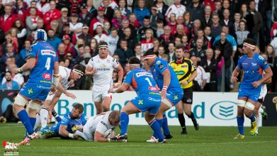 Ulster 19 -- Scarlets 8 (PRO12) - 16th Sept 2016
