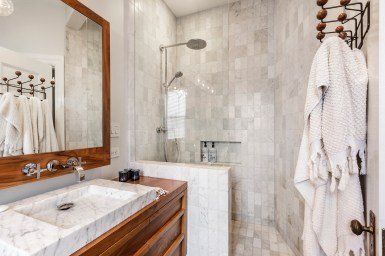 179 Carl Designer Bathroom w Walk In Shower