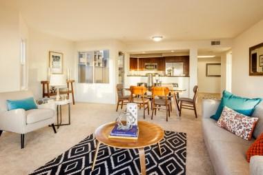 875 La Playa #179 | Outer Richmond | Living Room Open Kitchen