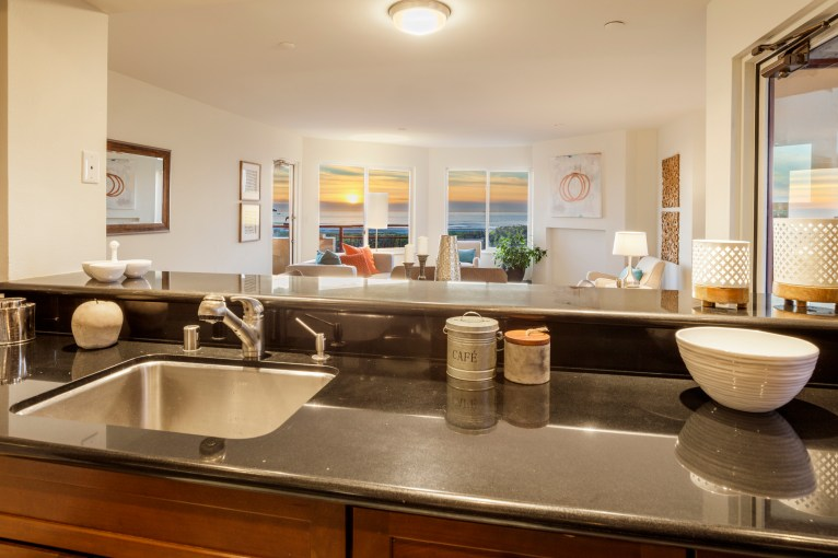 875 La Playa #179 | Outer Richmond | Open Kitchen With Ocean Views