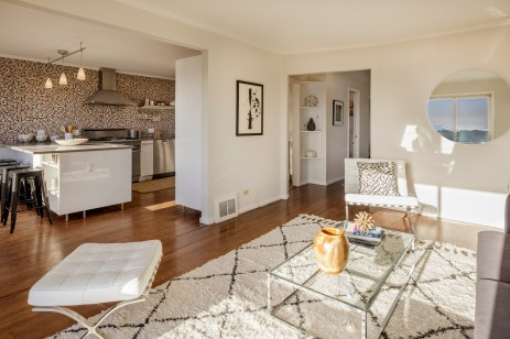 2456 Great Highway Living Room to Kitchen