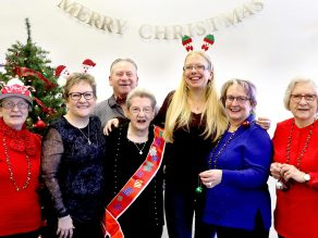 Sister Rose celebrated her 100th birthday by posing for a Christmas photo with family members