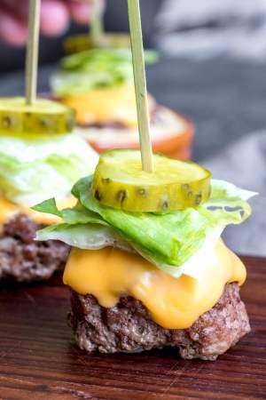 Low Carb Big Mac Bites