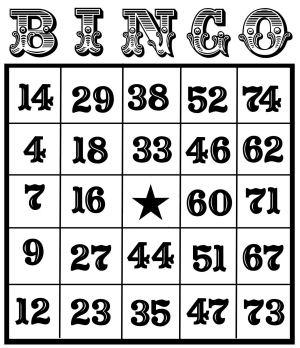 "A free bingo card for you ""fancy"""