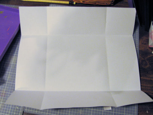 Use a circle cuttr to make your flaps.
