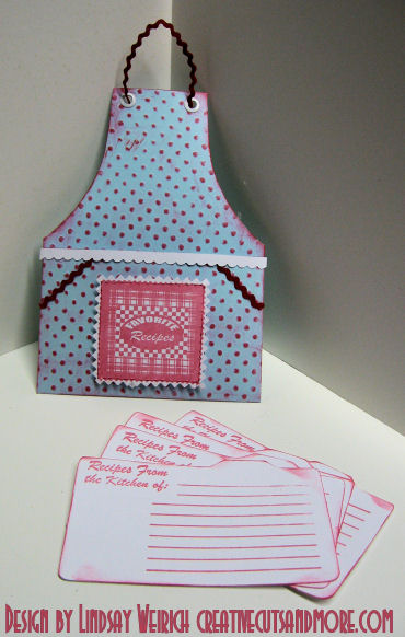 This apron holds recipe cards!